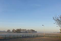 Ons uitzicht met mist